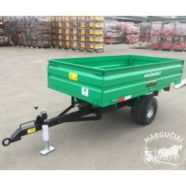 "Puspriekabės mini traktoriams ""Sansen"", 1000 - 3000 kg."