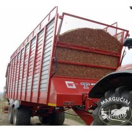 """Puspriekabė silosui """"Metal-Fach"""", 14000 kg."""
