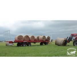 """Priekabos rulonams vežti """"Metal-Fach"""", 7400, 9000, 11440 kg."""