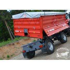 """Priekabos, puspriekabės """"Metal-Fach"""", 12000 kg."""