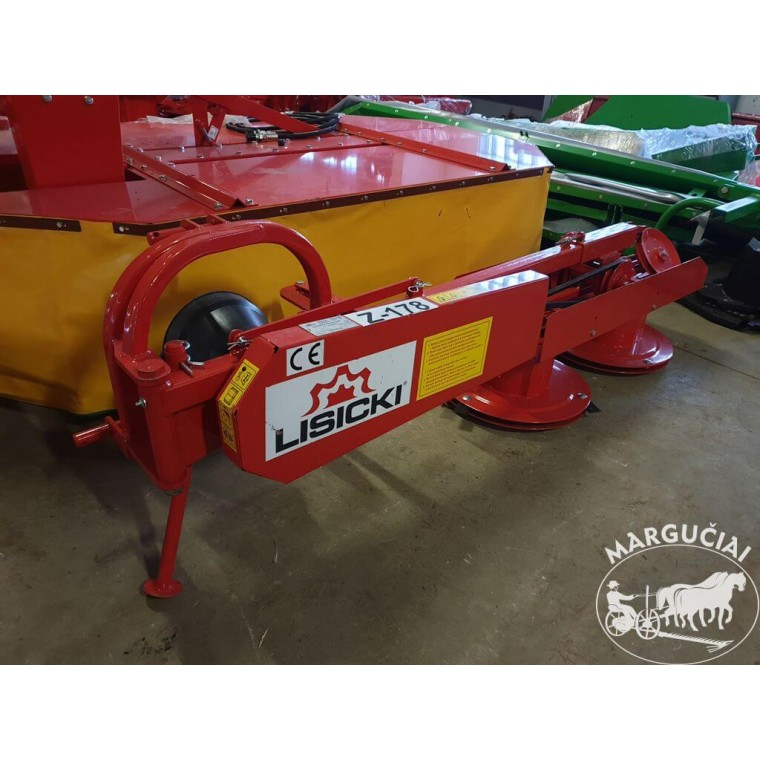 """Būgninė šienapjovė """"Lisicki"""", 1 m., 12 AG traktoriukui"""