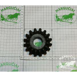 Mažas dantratis Z16, su šlicais, tiesus, vidus Ø 35 mm., PK0545 0545/01.01.00.001/4