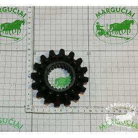 Mažas dantratis Z16, su šlicais, tiesus, vidus Ø 45 mm., PK0545