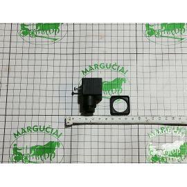 Frontalinio krautuvo el. magnetinio vožtuvo el. jungtis (plastikinė, su 3 kontaktais)