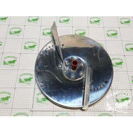 Dviejų diskų barstytuvo lėkštė su 2 sparneliais