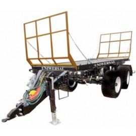 """Bazinė važiuoklė su platforma rulonams vežti """"Pomot"""", 10000 kg."""