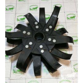 """Tarpuvagių frezos """"Truskawka"""" peilių tvirtinimo dvigubas diskas su prisuktais peiliais"""