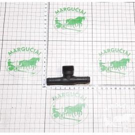 Trišakis žarnos sujungimas Ø 12,5 mm. (su išoriniu sriegiu)