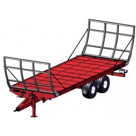 """Puspriekabės rulonams vežti """"Metal-Fach"""", 7200, 10000 kg."""
